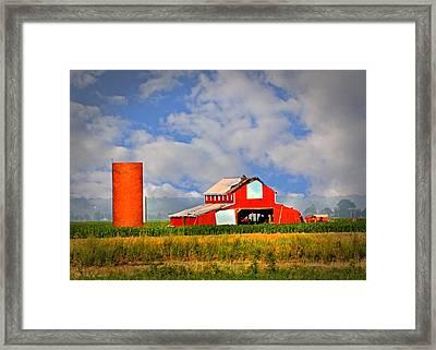 Big Red Barn Framed Print by Marty Koch