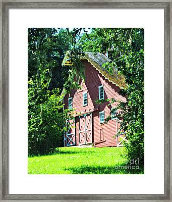 Framed Print featuring the photograph Big Red Barn by Mindy Bench
