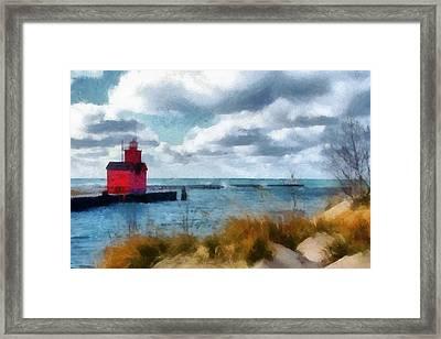 Big Red Big Wind 2.0 Framed Print by Michelle Calkins