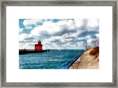Big Red Big Wind 3.0 Framed Print by Michelle Calkins