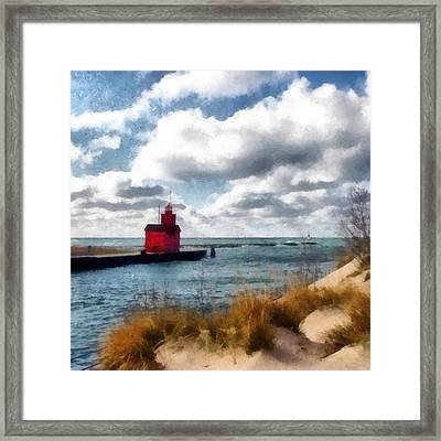 Big Red Big Wind Framed Print by Michelle Calkins