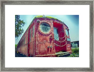 Big Red Car #4601 Framed Print by Joseph Hollingsworth