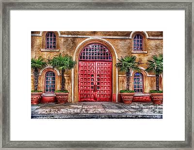 Big Red Doors Framed Print by Arnie Goldstein
