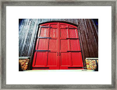 Big Red Doors Framed Print by Cheryl Young
