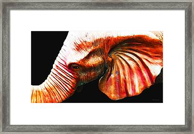 Big Red - Elephant Art Painting Framed Print