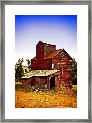 Big Red Grain Elevator Framed Print by Marty Koch