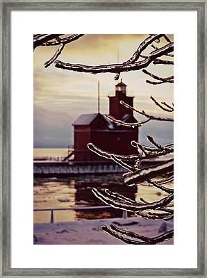 Big Red Ice Framed Print by Dawdy Imagery