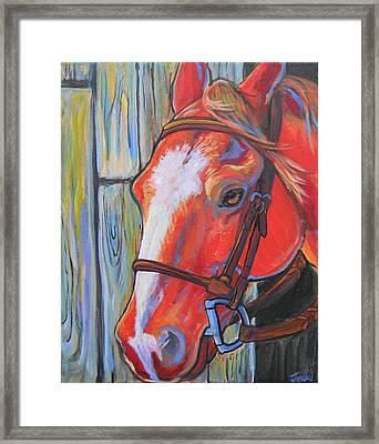 Big Red Framed Print by Jenn Cunningham