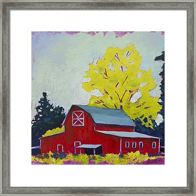 Big Red Framed Print by Kristin Whitney