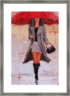 Big Red Framed Print by Laura Lee Zanghetti