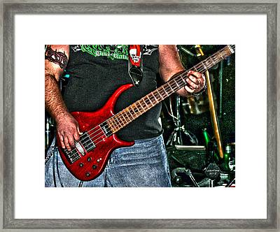 Framed Print featuring the photograph Big Red Tobias by Lesa Fine