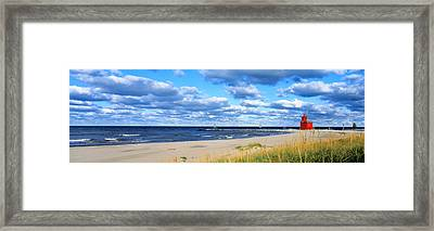 Big Red Lighthouse, Holland, Michigan Framed Print by Panoramic Images