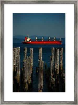 Big Red Framed Print by Mamie Gunning