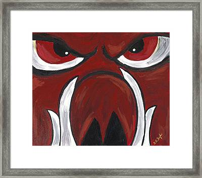 Big Red Framed Print by Robin Taylor