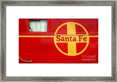 Big Red Santa Fe Caboose Framed Print by Paul W Faust -  Impressions of Light