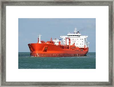 Big Red Tanker Framed Print