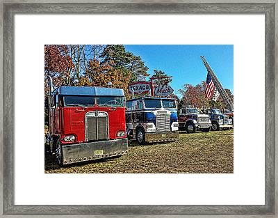 Big Rigs Americana Framed Print