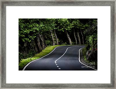 Big  Road Framed Print