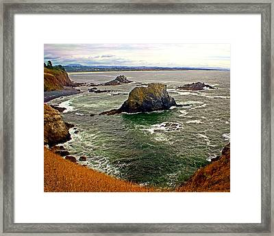 Big Rock Beach Framed Print by Marty Koch