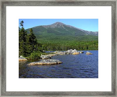 Big Rock View 3 Framed Print
