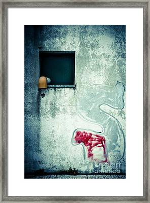 Big S With Window Pipe And Red Spray Framed Print by Silvia Ganora