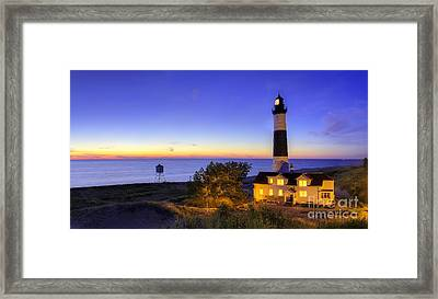 Big Sable Lighthouse In Early Evening Framed Print by Twenty Two North Photography