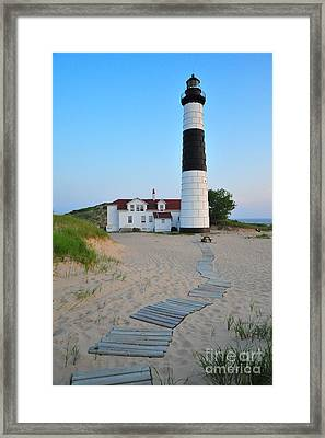 Big Sable Point Great Lakes Lighthouse Framed Print by Terri Gostola