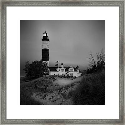 Big Sable Point Light Framed Print by Jeff Burton