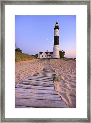 Big Sable Point Lighthouse Framed Print by Adam Romanowicz