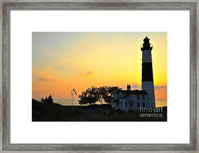 Big Sable Point Lighthouse On Lake Michigan Framed Print