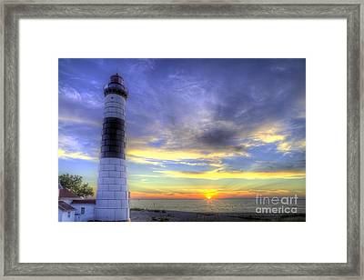 Big Sable Sunset Framed Print by Twenty Two North Photography