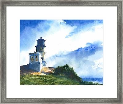 Big Sky At Split Rock Lighthouse Framed Print