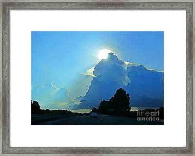 Big Sky Blue Framed Print
