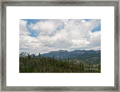 Framed Print featuring the photograph Big Sky Cloudscape by Charles Kozierok