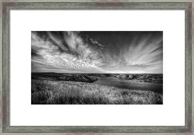 Big Sky Country In Black And White Framed Print