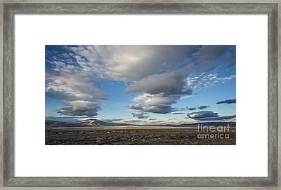 Big Sky In Nevada Framed Print by Dianne Phelps