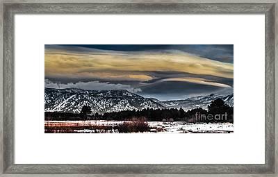 Big Sky Framed Print by Mitch Shindelbower