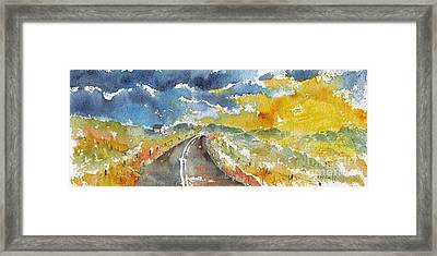 Big Sky - Open Road Framed Print