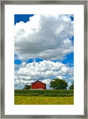 Big Sky Framed Print by Frozen in Time Fine Art Photography