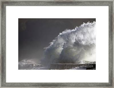 Big Storm Wave Framed Print by Boon Mee