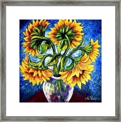 Big Sunflowers Framed Print