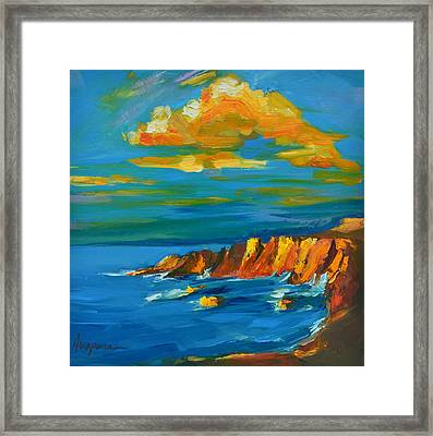 Big Sur At The West Coast Of California Framed Print by Patricia Awapara