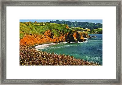 Big Sur California Coastline Framed Print by Bob and Nadine Johnston