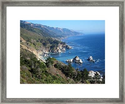 Big Sur Coast Ca Framed Print by Debra Thompson