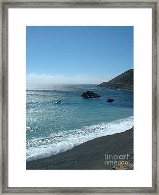 Big Sur Foam Framed Print by Greg Cross