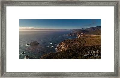 Big Sur Headlands Framed Print by Mike Reid