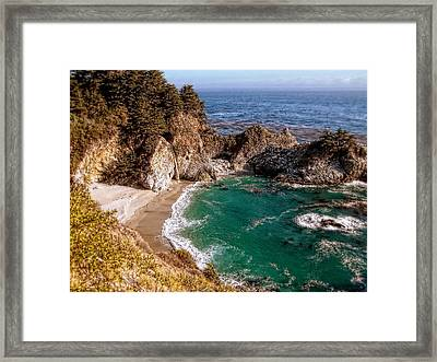 Big Sur - Mcway Falls Framed Print by Glenn McCarthy Art and Photography