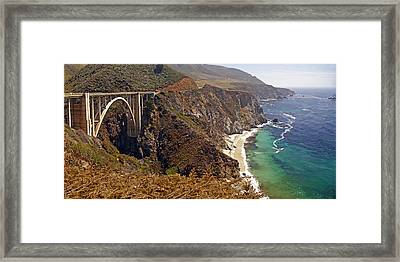 Framed Print featuring the photograph Big Sur by Rod Jones