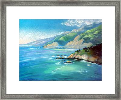 Big Sur Serenity Framed Print by Karin  Leonard