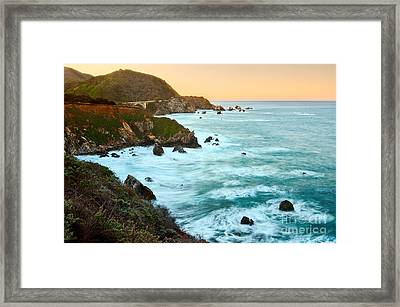 Big Sur Sunrise Framed Print by Jamie Pham